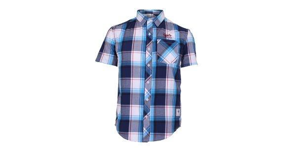 Pánská modro-tyrkysově kostkovaná košile Varsity Team Players