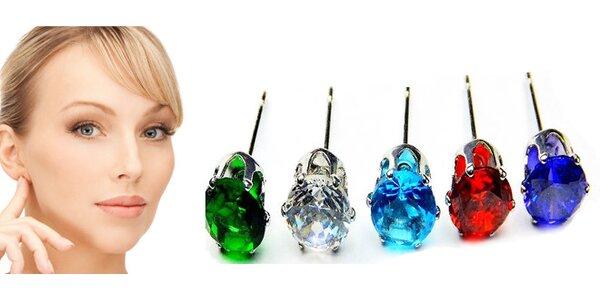 Dámské náušnice s krystalem výběr z 5 barev