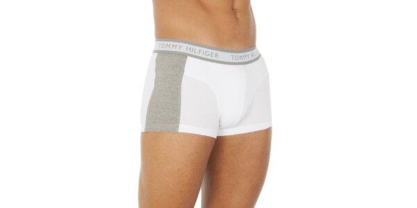 Pánské bílo-šedé boxerky Tommy Hilfiger