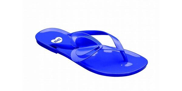 Dámské modré žabky se srdíčkem Mel