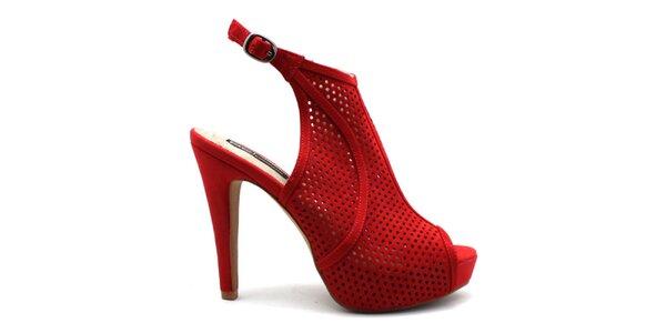 Dámské červené perforované střevíčky Furiezza