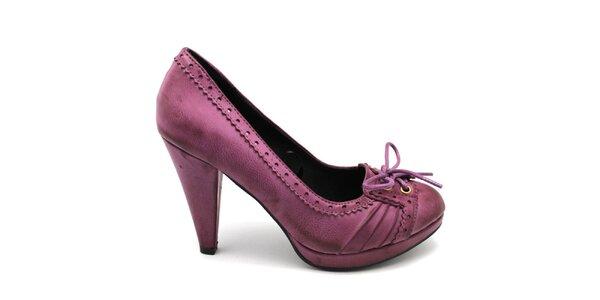 Dámské růžové lodičky s tkaničkou Furiezza