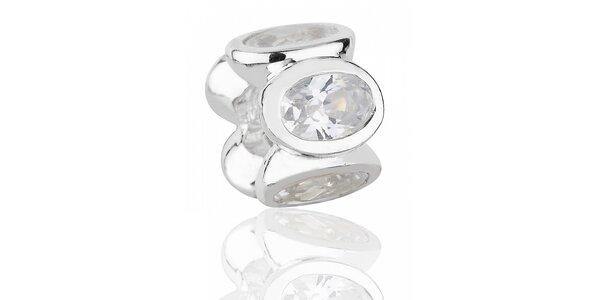 Stříbrný přívěsek Pandora s čirými broušenými kamínky