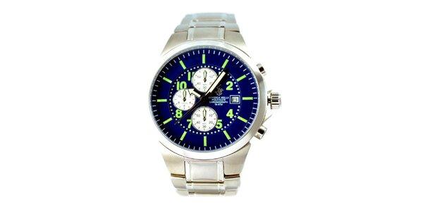 Pánské hodinky s modrým ciferníkem Beverly Hills Polo Club