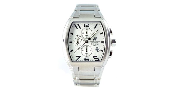 Pánské zaoblené hodinky s chronografem Beverly Hills Polo Club