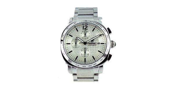 Pánské stříbrné hodinky s chronografem Beverly Hills Polo Club