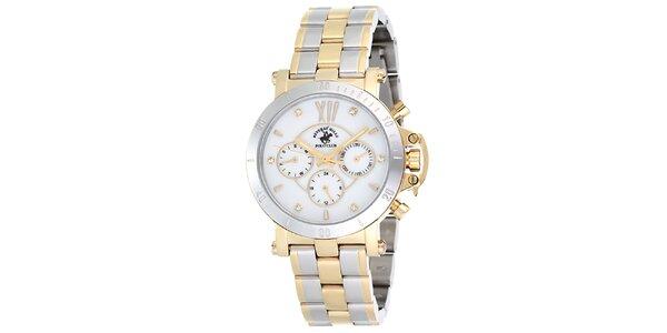Dámské stříbrné hodinky se světlým ciferníkem Beverly Hills Polo Club
