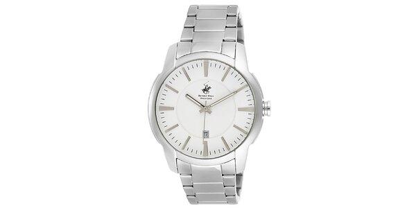 Pánské stříbrné kulaté hodinky Beverly Hills Polo Club
