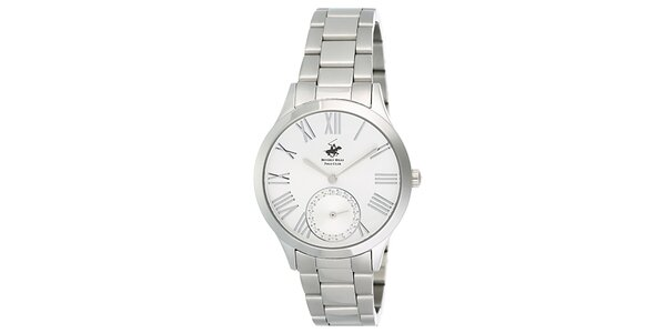 Dámské stříbrné hodinky s malou vteřinovkou Beverly Hills Polo Club