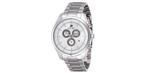 Pánské stříbrné ocelové hodinky Beverly Hills Polo Club