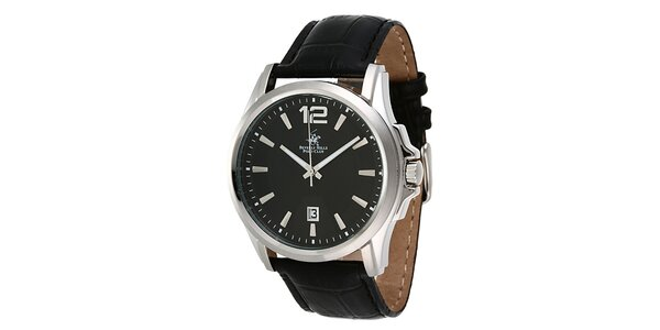 Pánské hodinky s černým ciferníkem Beverly Hills Polo Club