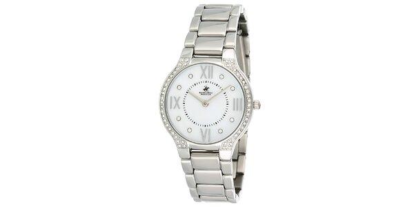 Dámské stříbrné hodinky s krystalky Beverly Hills Polo Club