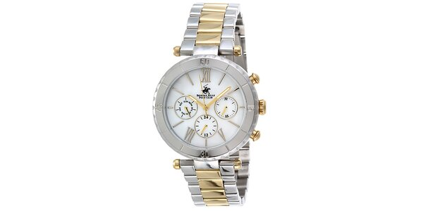 Dámské stříbrno-zlaté hodinky Beverly Hills Polo Club