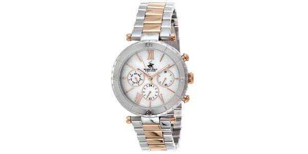 Dámské dvoubarevné hodinky Beverly Hills Polo Club