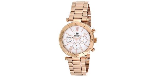 Dámské růžovozlaté hodinky Beverly Hills Polo Club