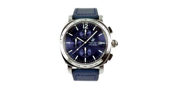Pánské hodinky s fialovým ciferníkem Beverly Hills Polo Club