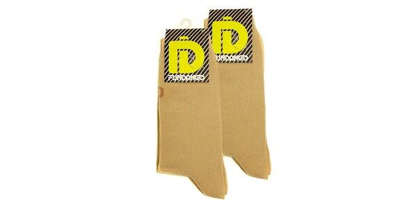 Pánské béžové ponožky Fundango - 2 páry