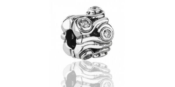 Bohatě broušený stříbrný přívěsek Pandora s čirými kamínky