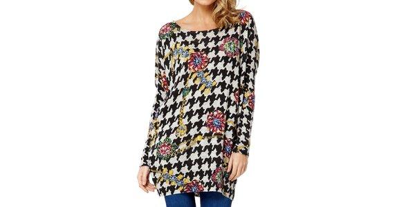 Dámský barevný svetr s kohoutí stopou Miss Jolie