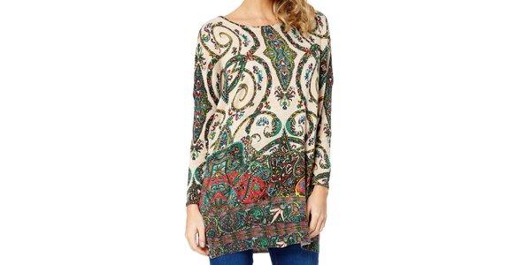 Dámský svetr s barevným paisley vzorem Miss Jolie