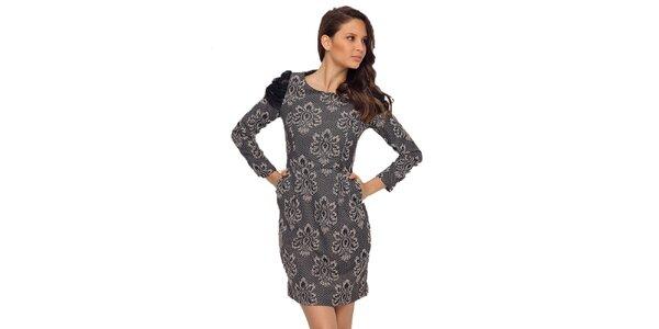 Dámské šaty s krémovo-černým vzorem TopShop