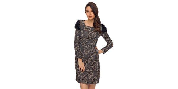 Dámské šaty s béžovo-černým vzorem TopShop