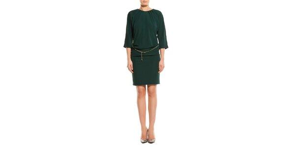 Dámské lahvově zelené šaty TopShop