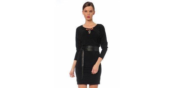 Dámské černé šaty s páskem TopShop