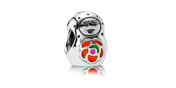 Stříbrný přívěsek Pandora s bábuškou