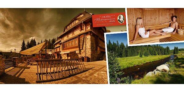 Pobyt v hotelu Klostermannova chata v srdci Šumavy