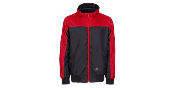 Pánská černá sportovní bunda Chico s červenými detaily