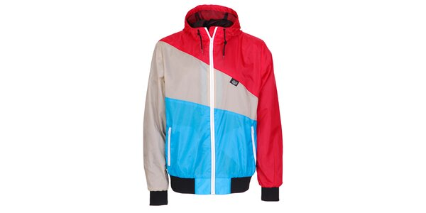 Pánská modro-červeno-šedá jarní sportovní bunda Chico