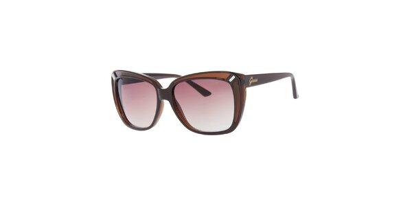 Dámské hnědé sluneční brýle Guess