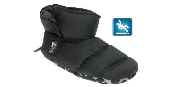Dámská černá prošívaná domácí obuv Beppi