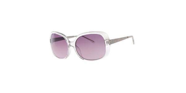 Dámské transparentní oválné sluneční brýle Guess