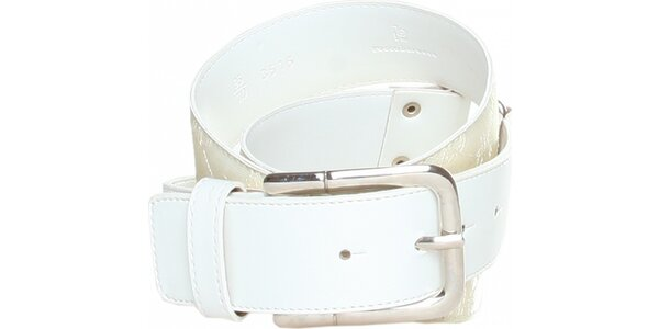 Dámský bílý pásek Roccobarocco