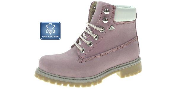 Dámské pastelově růžové kotníkové boty Beppi