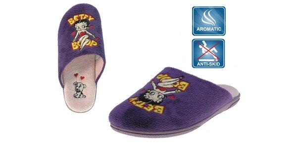 Dámské fialové voňavé pantofle Beppi Betty Boop