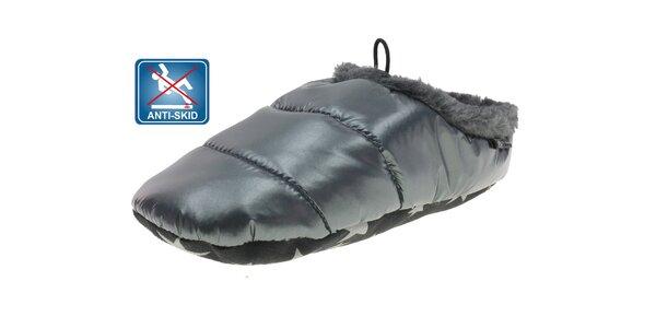 Dámská šedá prošívaná domácí obuv Beppi