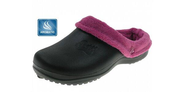 Dámské černé voňavé pantofle Beppi s vnitřním kožíškem