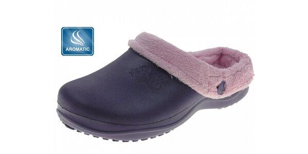 Dámské tmavě fialové voňavé pantofle Beppi s vnitřním kožíškem