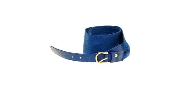 Dámský zářivě modrý semišový pásek Hope