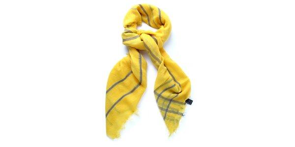 Dámský žlutý šátek Belle & Bloom