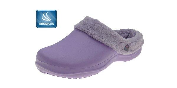 Dámské světle fialové voňavé pantofle Beppi s vnitřním kožíškem