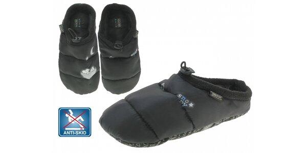 Dámská černá prošívaná domácí obuv Beppi Snoopy