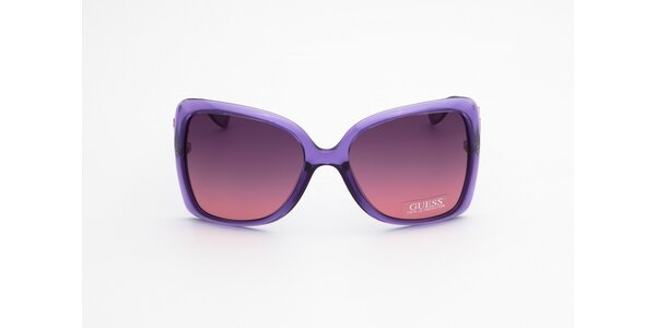 Dámské fialovo-hnědé sluneční brýle Guess