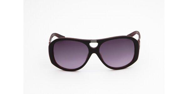 Dámské hnědo-červené sluneční brýle Miss Sixty