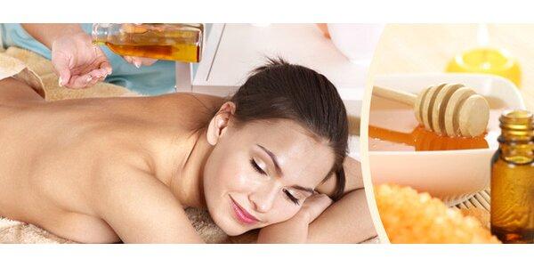 Očisťující medová masáž