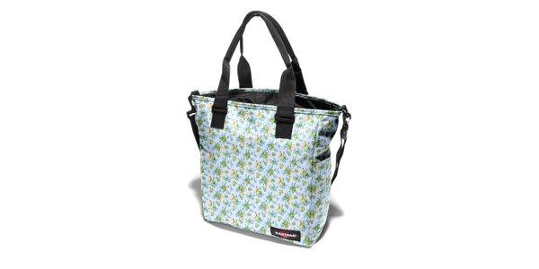 Dámská bílá taška Eastpak s pestrobarevným kytičkovaným potiskem