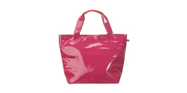Dámská neonově růžová lakovaná kabelka Flip Flop